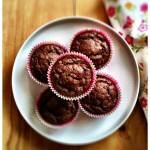 Kakaós, mogyorós és banános muffin