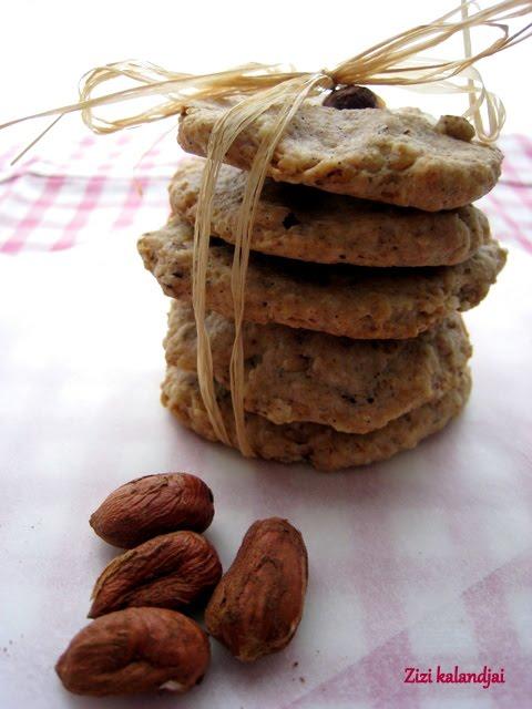 Citromos-mogyorós keksz