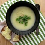 Tök, póréhagyma és burgonya leves