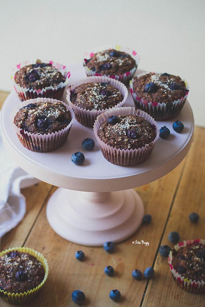 Áfonyás kókuszos muffin (vegán, gluténmentes)