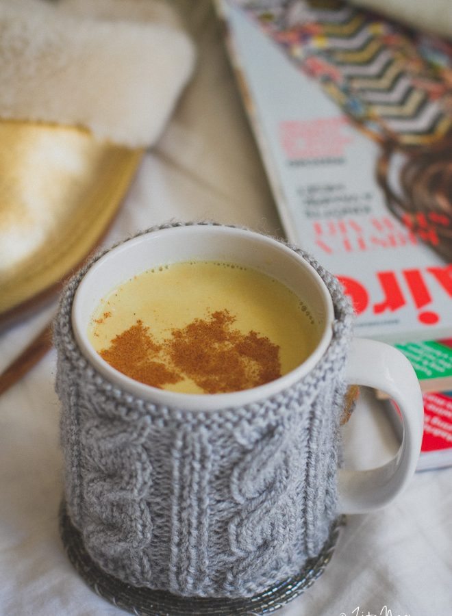 Kurkumás latte (vegán)
