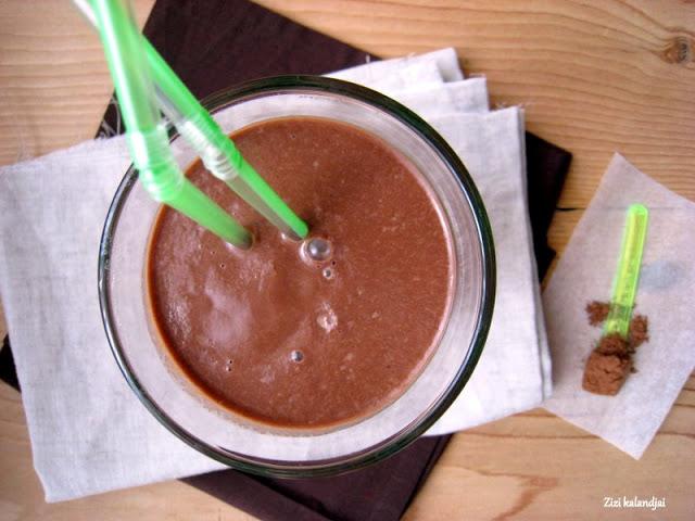 Az egészséges csokoládé shake (vegán)