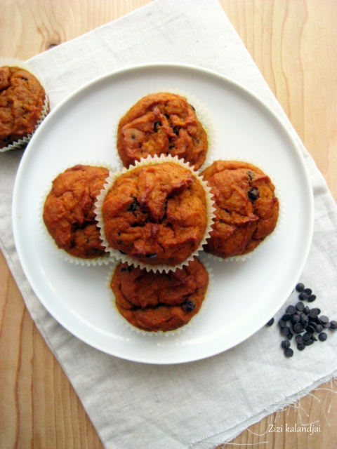 Sütőtök-csokoládé muffin