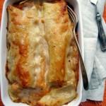 Sütőtökös-póréhagymás lasagne