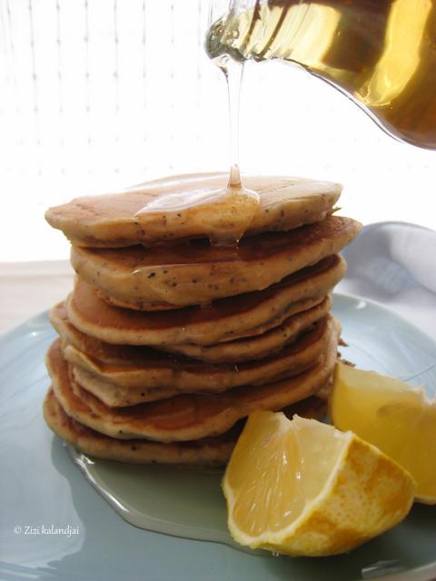 Citromos-mákos palacsinta (laktózmentes, vegán)