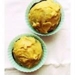 Csokoládés-cukkinis cupcake mogyoróvaj krémmel