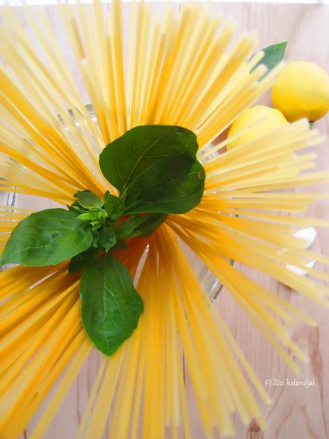 Citromos spagetti (laktózmentes, vegán)
