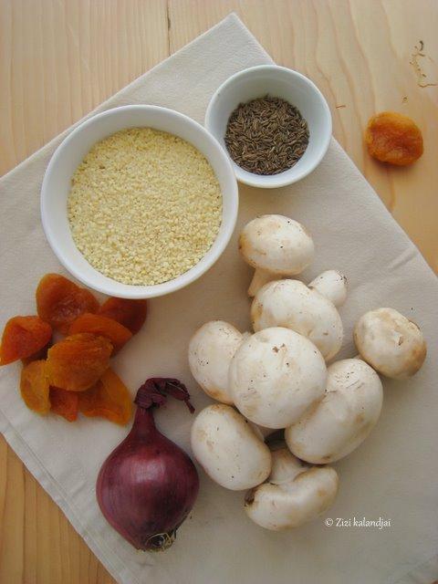 Marokkói gombás ragu kuszkusszal (laktózmentes, gluténmentes, vegán)