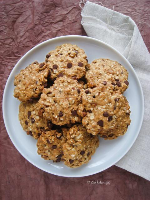 Diós-csokis zabpehely keksz és a Kétker-Étkem (laktózmentes, vegán)