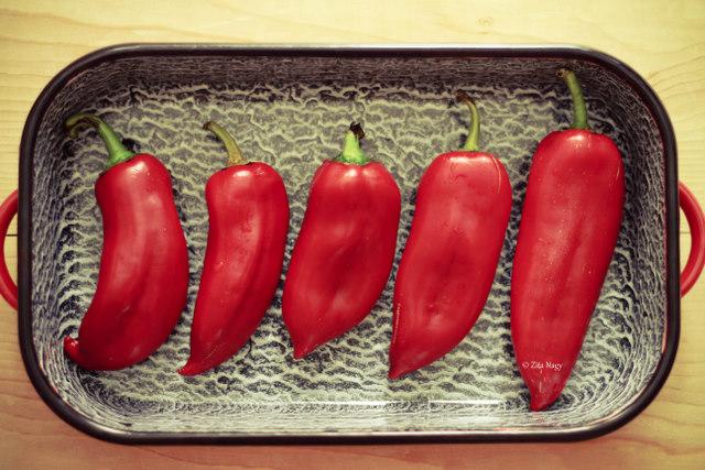 Sült kápia paprikás fusilli