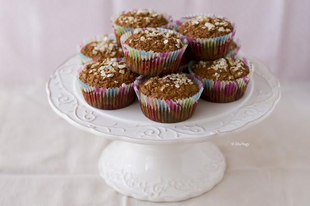 Köles, zab és alma muffin