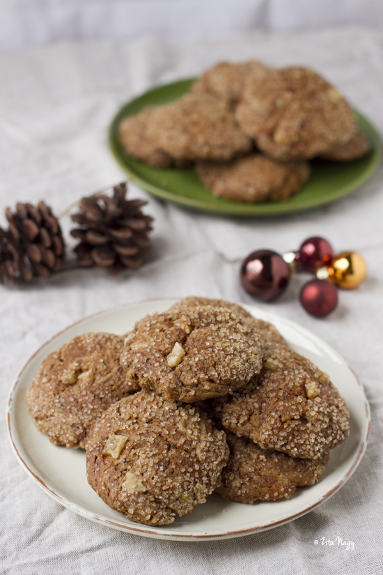 Gyömbéres fűszeres keksz (laktózmentes, vegán)