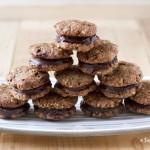 Diós csokoládés keksz szendvics (laktózmentes, vegán)