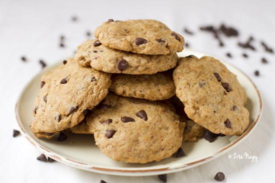 Chocolate chip cookies (laktózmentes, vegán)