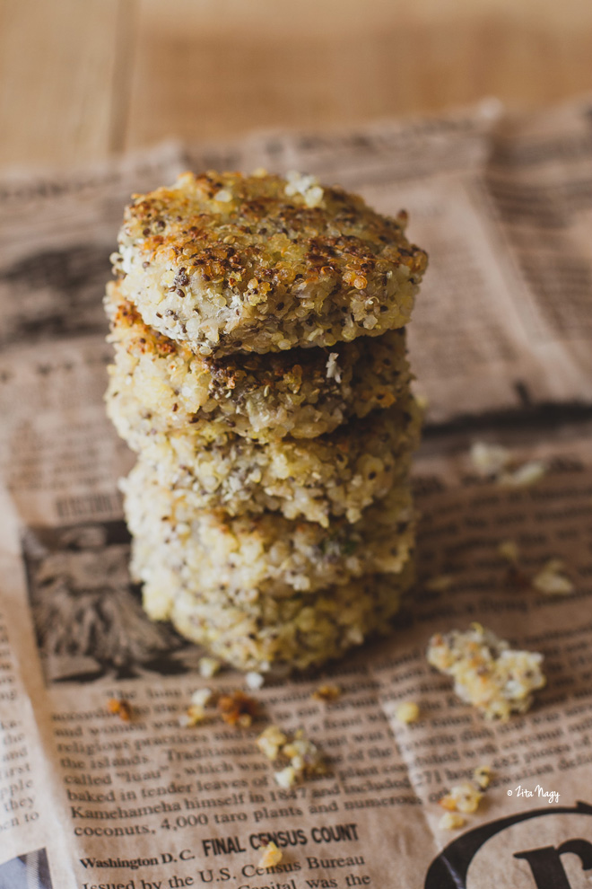 Vegán karfiolos quinoa fasírt