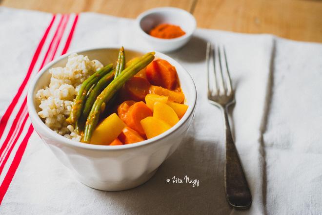Villámgyors téli zöldséges curry (laktózmentes, gluténmentes, vegán)