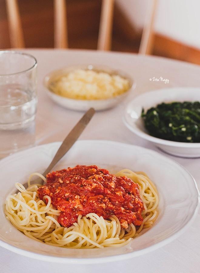 Bolognai spagetti (vegán)