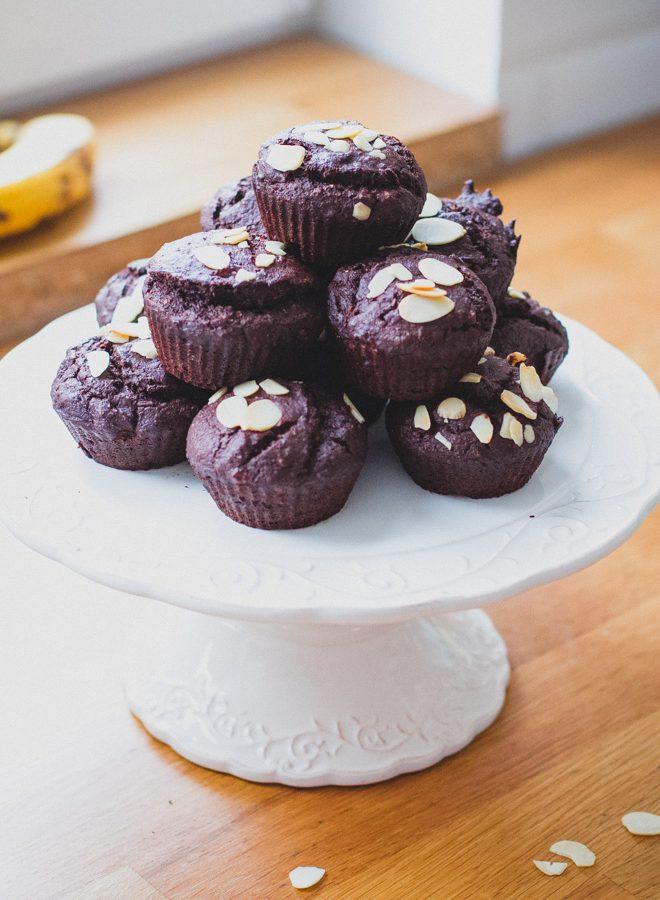 Banános mandulás csokis muffin (laktózmentes, vegán)