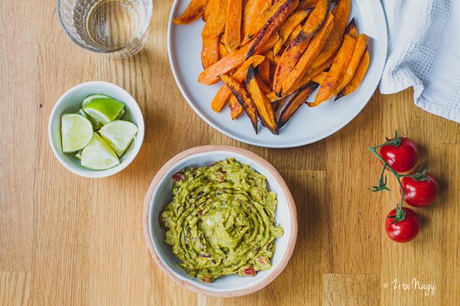 Sült édesburgonya hasábok és guacamole (laktózmentes, gluténmentes, vegán, PKU barát receptek) + Mi az a PKU?