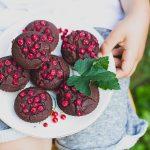 Ribizlis csokoládés muffin (laktózmentes, gluténmentes, vegán)