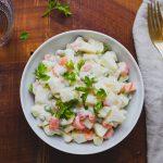 Francia saláta (laktózmentes, gluténmentes, vegán)