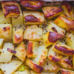 Citromos ropogós sült burgonya (laktózmentes, gluténmentes, vegán)