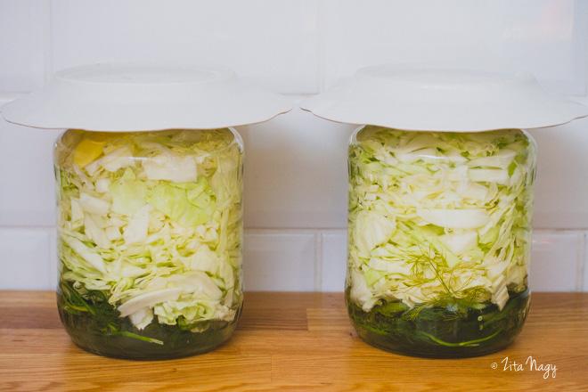 Nyári kovászos káposzta (laktózmentes, gluténmentes, vegán)