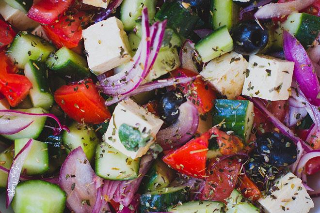 Görög saláta másképp (laktózmentes, gluténmentes, vegán)