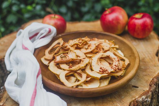 Fahéjas alma chips (laktózmentes, gluténmentes, vegán)
