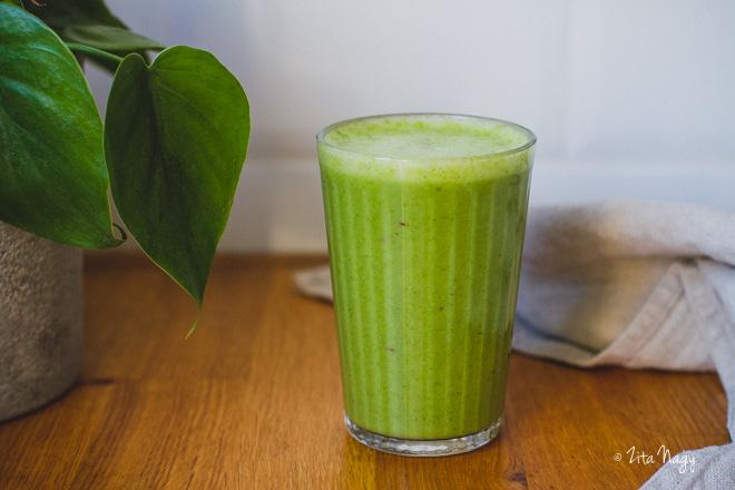 Zöld turmix (laktózmentes, gluténmentes, vegán) – Turmix kihívás 2. nap