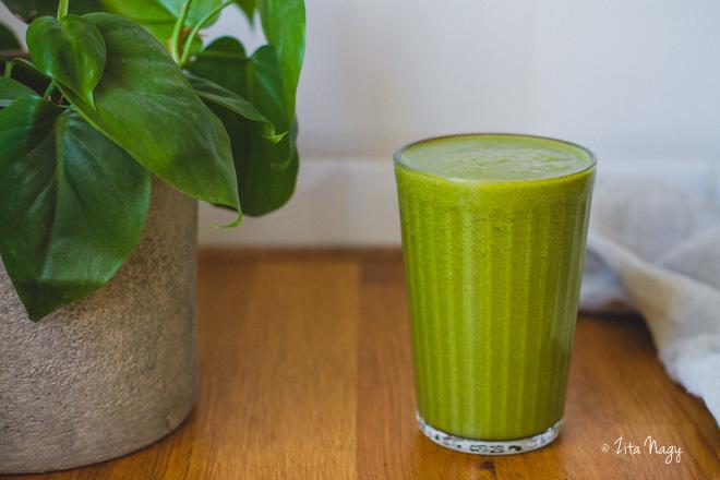 Ananászos zöld turmix  (laktózmentes, gluténmentes, vegán) – Turmix kihívás 5. nap