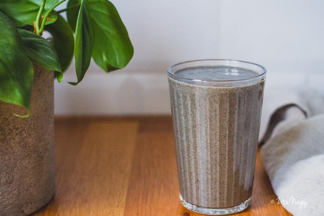 Fekete szezámos turmix  (laktózmentes, gluténmentes, vegán) – Turmix kihívás 7. nap
